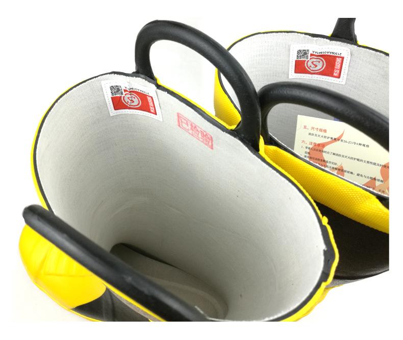 02款3C认证消防靴消防专用灭火战斗靴防护靴消防胶靴底部带钢板