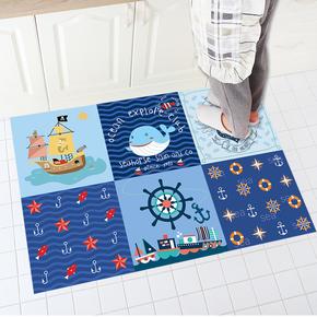 拼接厨房地垫自粘防滑垫吸水防油长方形门垫家用卧室客厅脚垫地毯