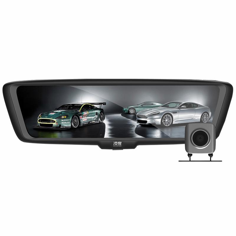 凌度A919流媒体全面屏智能后视镜云镜行车记录仪双镜头高清夜视