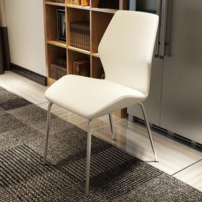 现代简约餐椅创意休闲靠背椅北欧时尚洽谈椅酒店家用不锈钢餐椅子
