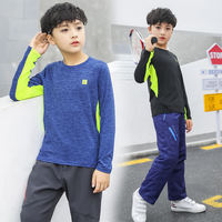 Children's quick-drying clothes boy quick-drying t-shirt 2019 spring and summer new sports long-sleeved T-shirt boy short-sleeved shirt