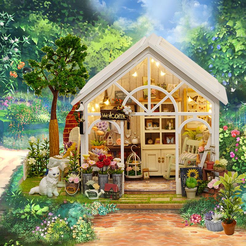 智趣屋diy小屋阳光花房手工制作拼装房子模型玩具别墅情人节礼物5元优惠券