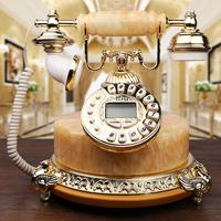 欧式玉石仿古电话机美式家用固定办公座机老式古董复古电话机