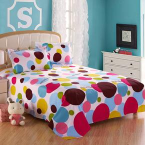 纯棉加厚床单单件全棉单人儿童学生宿舍双人棉布被单1.5m1.8米2.0