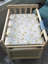 新生婴儿按摩抚触BB换尿布台 木制实木尿布床宝宝护理台换衣台