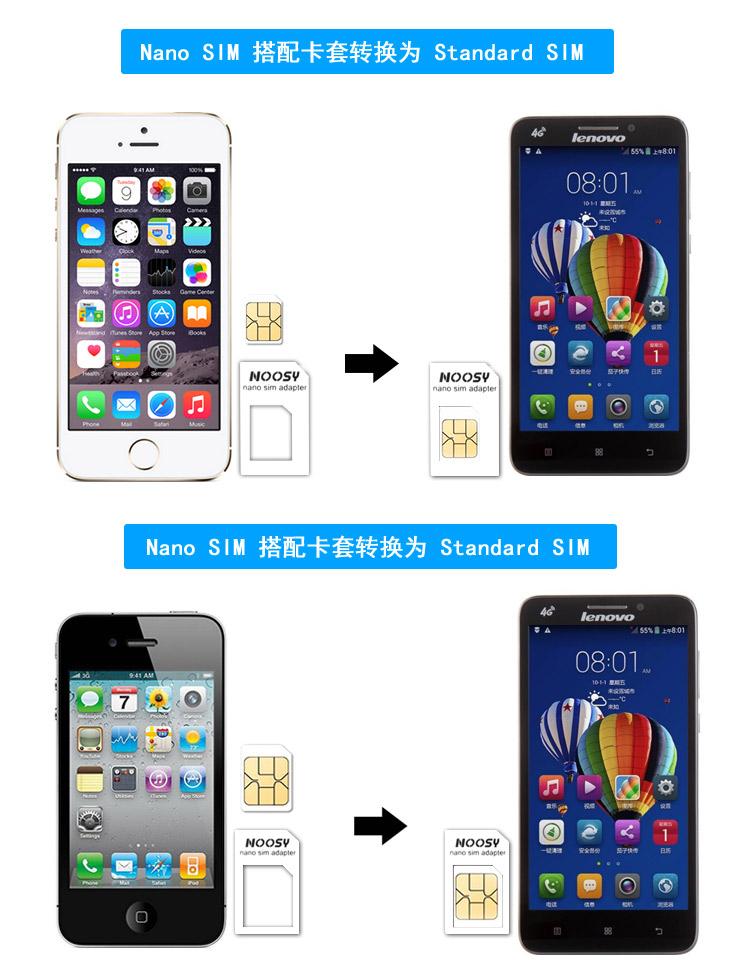 sim卡套苹果6plus5s卡托还原卡槽安卓手机卡套小卡转大卡送取卡针
