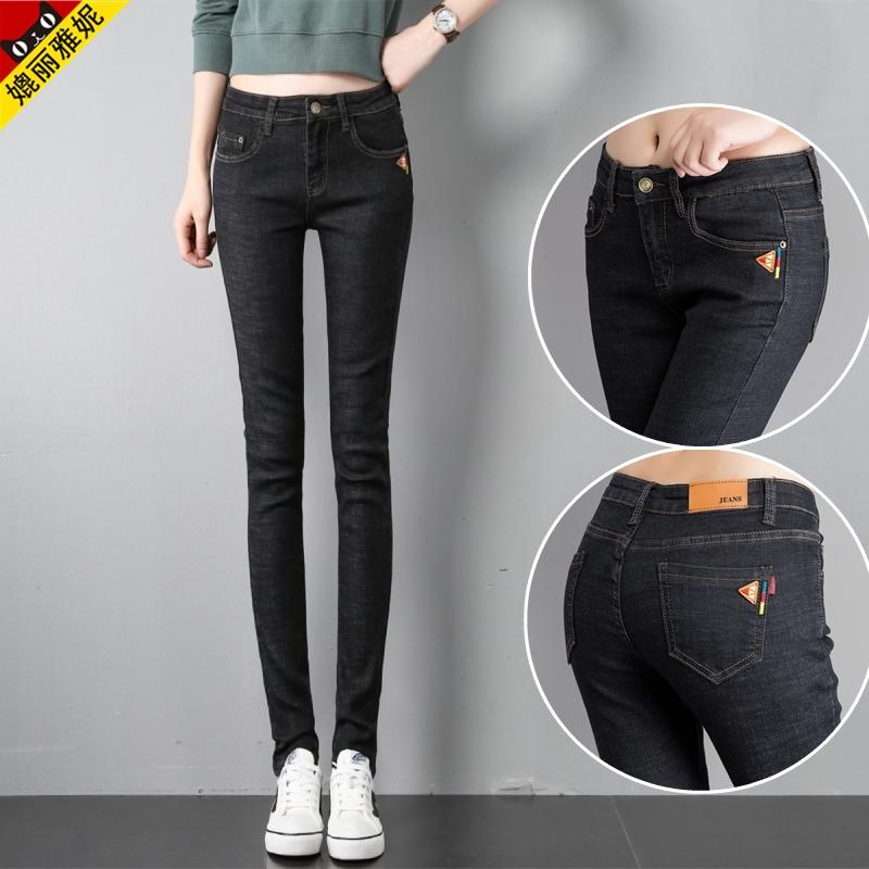 牛仔裤高个加长女