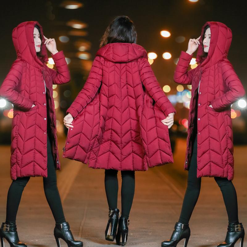 羽绒棉袄女2018新款反季棉服女中长款加厚ins棉衣服女冬季外套女