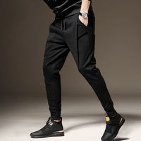 Casual pants men's sports harem pants plus velvet thickening pants winter models wearing pants men loose 2018 autumn and winter