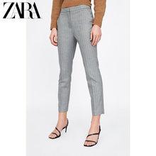 ZARA 新款 女装 锯齿斜纹窄管长裤 01478124811