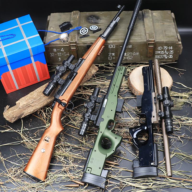 大号拉栓98k狙击可发射水弹枪awm抛壳枪绝地玩具枪男孩求生枪
