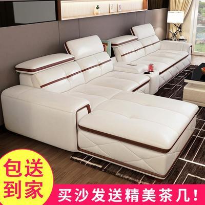 欧式沙发实贵妃花头层牛皮123客厅组合高档橡木皮艺品牌真皮沙发品牌旗舰店