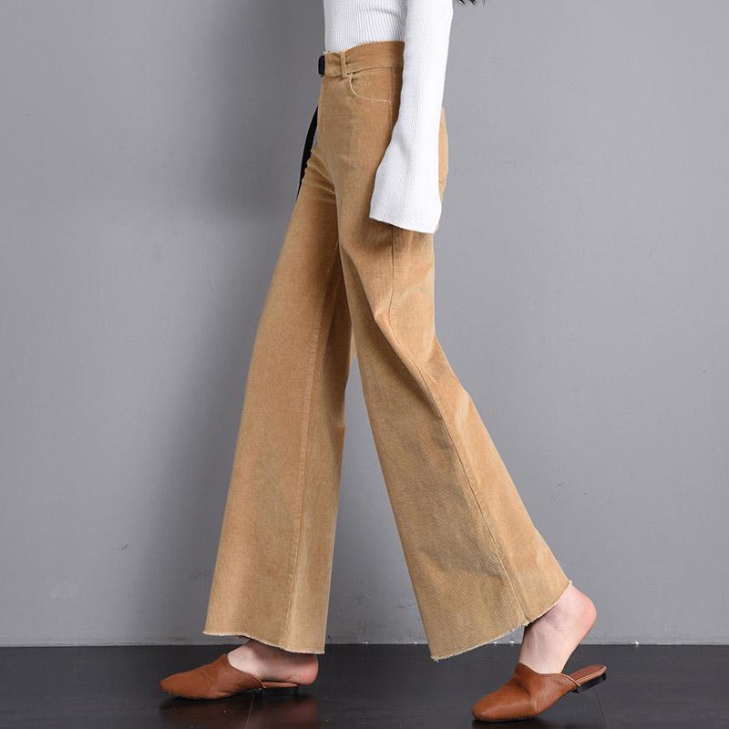 条绒直筒裤