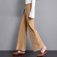 女条绒筒裤