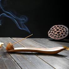 线香炉创意陶瓷沉檀香插托卧香熏炉仿古家用禅意摆件香座茶道室内