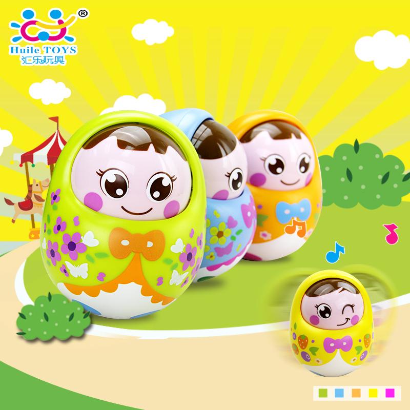 汇乐不倒翁婴儿玩具0-1岁初生儿3-6-9-12个月幼宝宝早教益智玩具