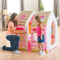 Intex children's inflatable castle princess house toy house girls girls play house inflatable sofa play house