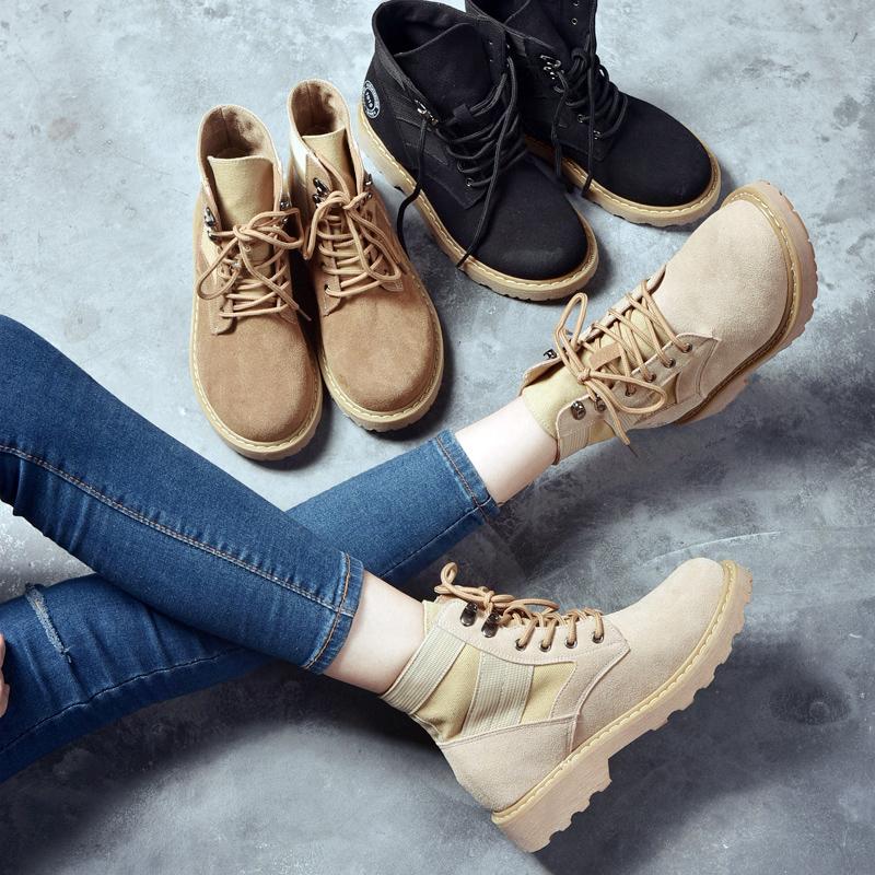 复古休闲女靴子