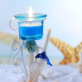 Blue new marine theme candlestick wedding candle gift birthday birthday home wrought iron bar kasal room hotel