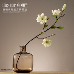 唐朝仿真花卉玉兰花 客厅餐桌茶几假花插花艺摆设摆件家居装饰品