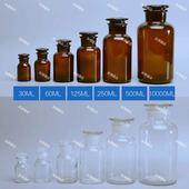棕色白色广口瓶大口/小口 试剂瓶 磨口瓶30/60/125/500/1000ml