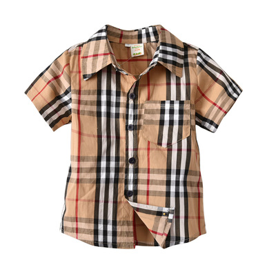 男童衬衫春秋夏装6中大童运动洋气8儿童长袖小学生男孩衣服11岁