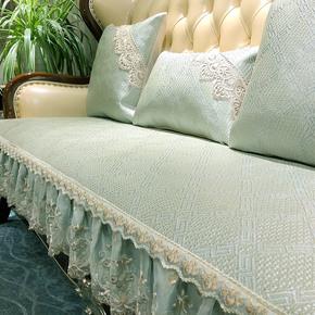 欧式沙发垫高档奢华防滑凉席夏季藤席坐垫客厅真皮组合沙发套定做