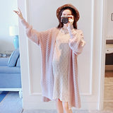 Pregnant women's sweater spring and autumn 2019 new fashion women's long cardigan jacket knitted pregnant women's clothing autumn jacket