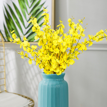 Fake flower high simulation flower decoration dancing orchid living room table insert dry flower bouquet overall simulation floral plastic flower