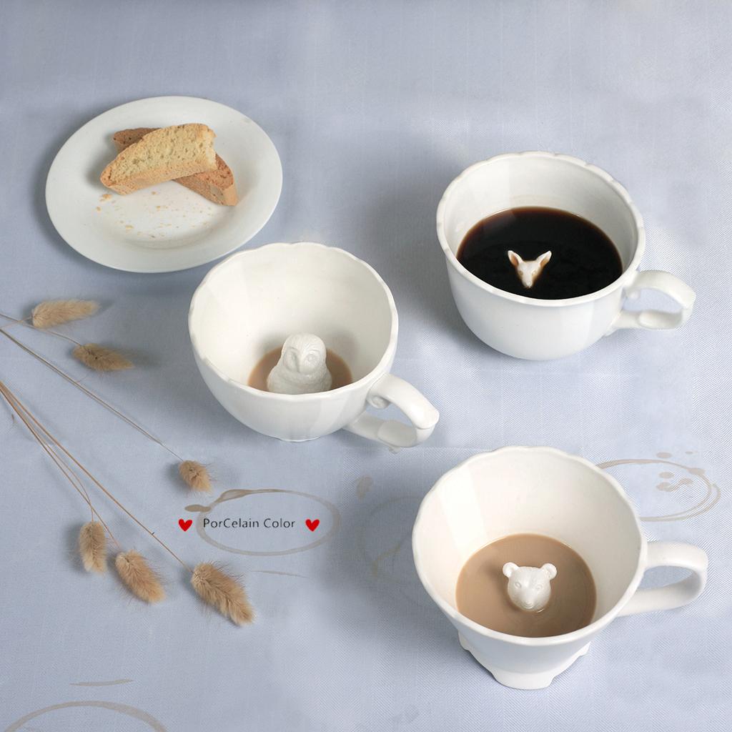 加拿大imm Living加拿大创意猫头鹰咖啡杯简约现代白色搞怪杯子