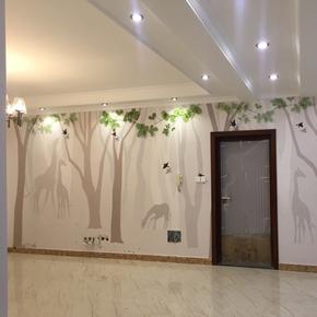 北欧电视背景墙墙布沙发卧室床头背景墙壁纸现代简约无缝壁画森林