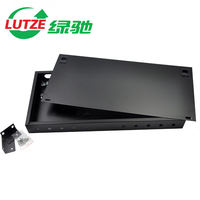 LUTZE green Chi 12 ST / FC rack fiber optic terminal box cable pigtail splice wiring box rack