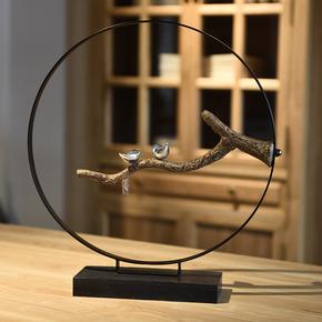新中式禅意玄关家居饰品客厅电视柜摆件创意个性乔迁新居结婚礼物