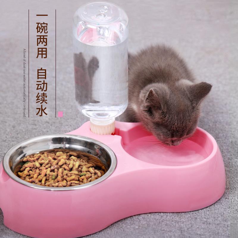 猫咪用品猫碗狗碗猫食盆宠物自动饮水猫盆狗盆双碗宠物碗狗狗用品