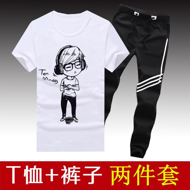 包邮9.9元九块九男装学生韩版T恤短袖衫9块特价便宜货10-20元套装