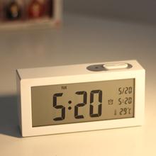 简约时尚电子闹钟创意学生钟表静音夜光床头钟儿童卧室可爱小时钟