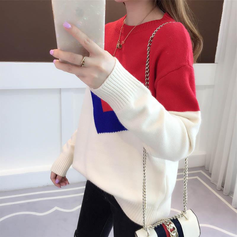 韩版时尚短款毛衣女