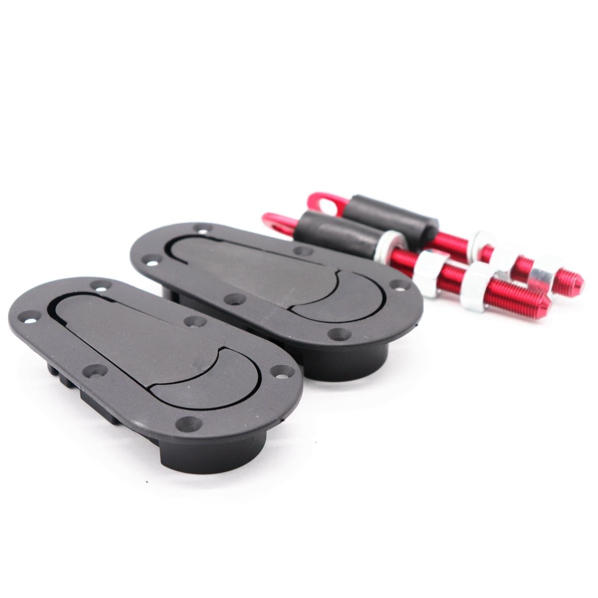 汽车引擎机盖锁改装 隐形车头盖锁通用型锁扣赛车配件发动机盖锁