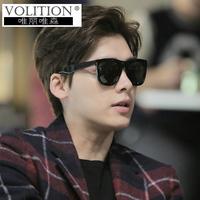 男士太阳镜2017眼镜复古偏光韩版新款女墨镜方脸潮人男开车司机镜