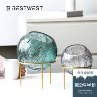创意玻璃花瓶透明插花现代风格北欧家居客厅家用软装饰品轻奢摆件