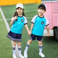 Primary school class clothes summer cotton short-sleeved British style graduation clothes summer uniforms custom suits kindergarten clothing