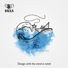 1b2614d3a9164 KAOLA original watercolor origami boat breaking waves wave tattoo fashion  ankle wrist tattoo tattoo