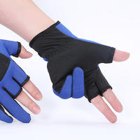 Fishing gloves fingerless unisex breathable non-slip sunscreen fishing gloves sea fishing gloves fishing gear supplies