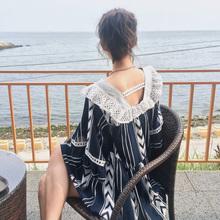 连衣裙 荷叶边娃娃裙方领高腰喇叭袖 宽松大码 18夏新韩国东大门代购