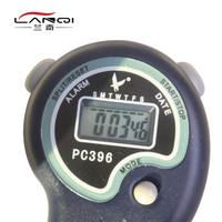 Single row 2 6-digit stopwatch Running timer electronic sports stopwatch referee timer Send whistle