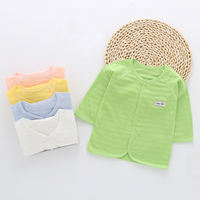 Baby sun protection clothing female 1-3 years old baby mosquito clothing summer breathable ultra-thin children skin clothing cotton air conditioning shirt 2