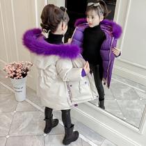 Девочек зимняя одежда хлопка одежду 2018 новый детский вниз Хлопок одежда иностранных газовых Куртка Куртка в длинные сгущения