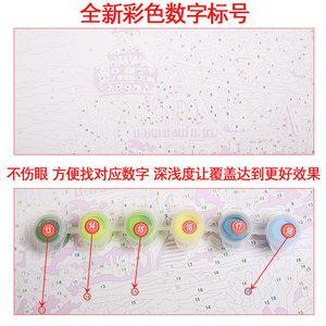 魔术手 diy数字油彩画手绘填色中国古风客厅装饰画玄关卧室油画