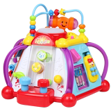 Huile Xiaotiandi parent-child interaction multi-faceted content game music drums baby early education educational toys 1-3 years old