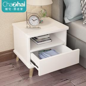 北欧床头柜简约现代卧室收纳柜迷你简易床头收纳柜实木腿储物柜